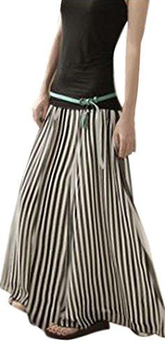 (ニーマンバイ) NEIMAN BY ふんわり ロング スカート ブラック ネイビー レディース (03. XLサイズ, ブラック)