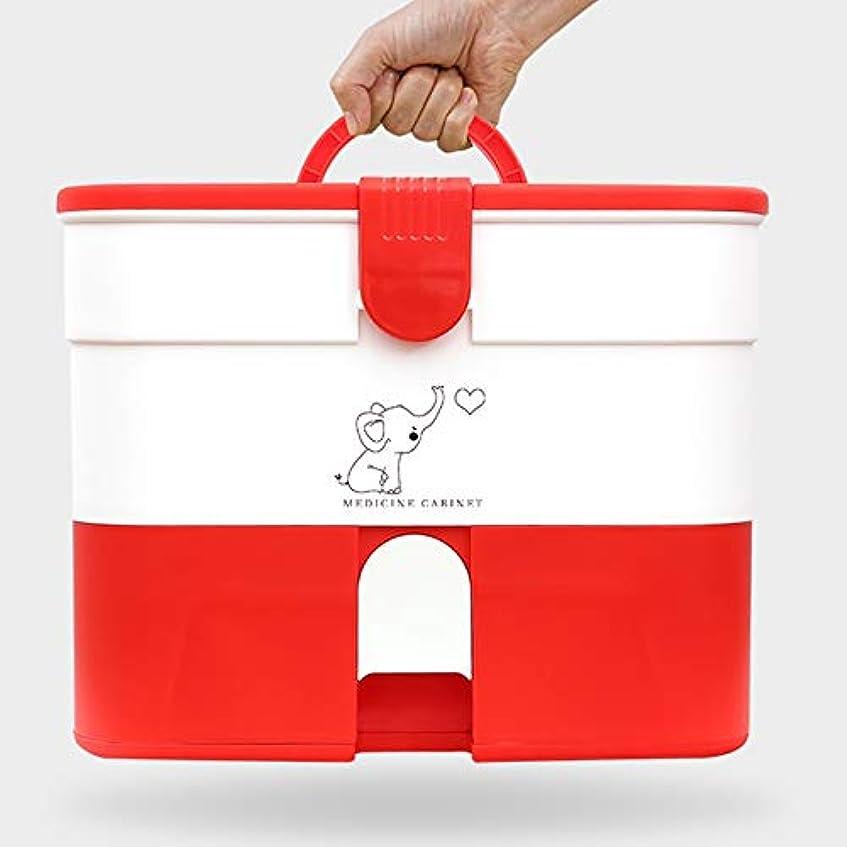 精通した廊下事業内容Yxsd 応急処置キット 家庭用応急処置キットロック可能な医療キャビネット、家庭用プラスチック医療収納ボックスオーガナイザー、旅行職場 (Color : Red)