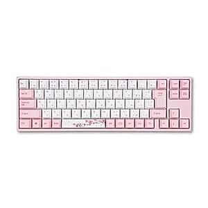 アミロ vm-va73-wp88j-red Pink 有線キーボード(日本語配列73キー・CHERRY MX 赤軸)