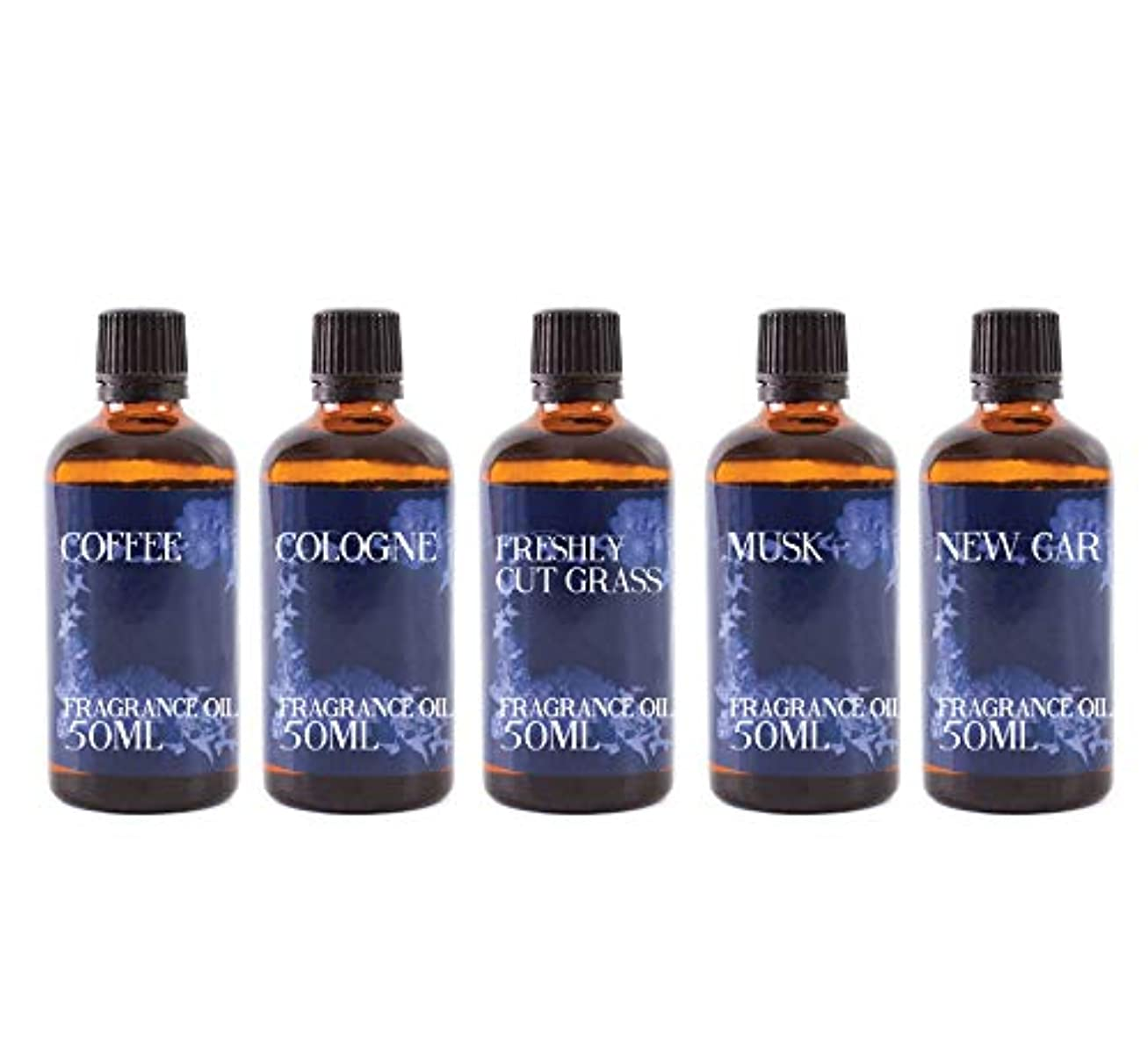 樹木ボタンリーフレットMystic Moments | Fragrant Oil Starter Pack - HIS - 5 x 50ml