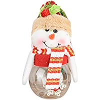inverlee Merry Christmasプラスチック透明サンタクロース雪だるまキャンディストレージコンテナXmas Decor One Size