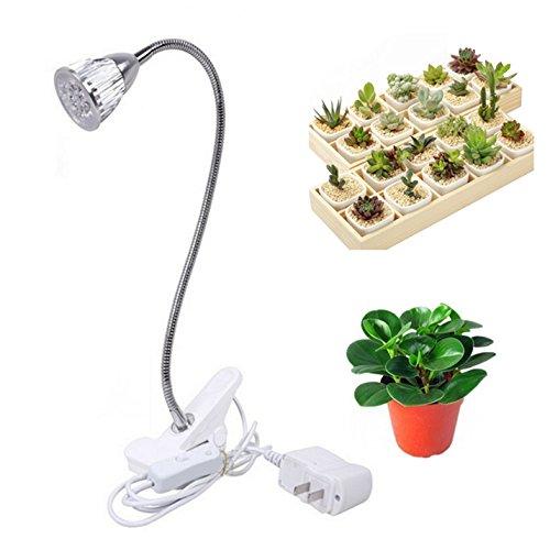 LED植物育成ライト5W 360度調節可能 クリップ式植物ライト消費電力 長時間照明 E27水耕栽培ランプ