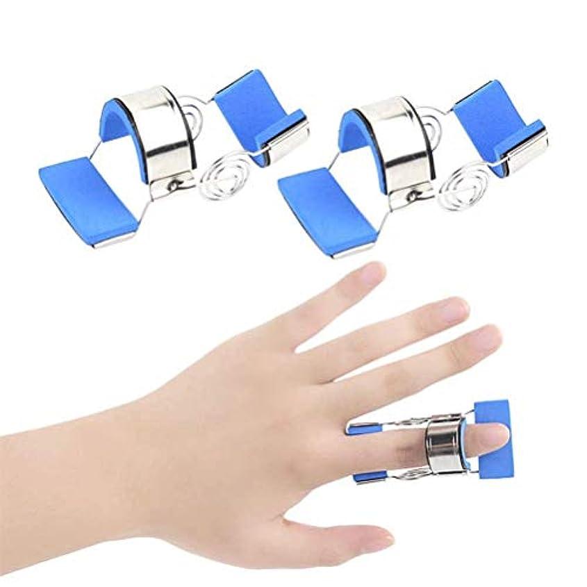 官僚経営者前文ブレースガードプロテクターリハビリトレーニングデバイス-Buleを矯正指の変形や破損ダイナミック指スプリント指ナックル固定化、指用の指のトレーニングデバイスフィンガースプリント (Size : L)