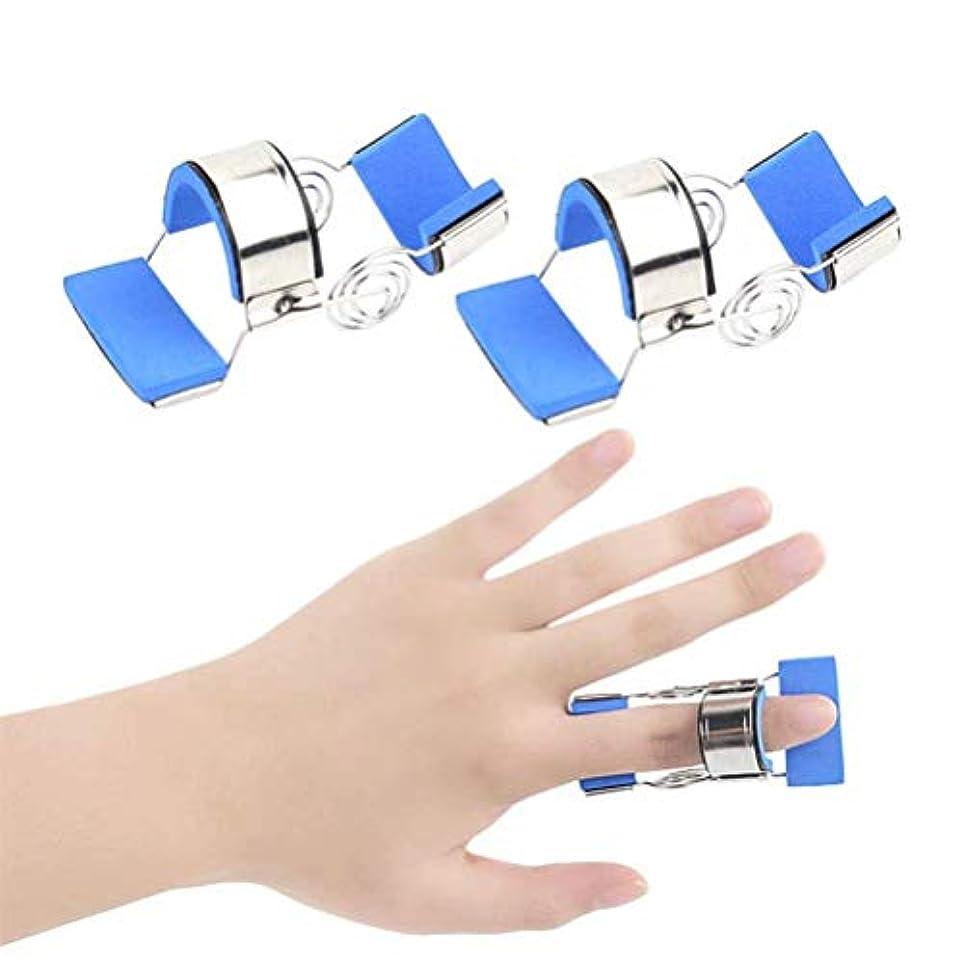 ぴったり透けて見えるプレゼンブレースガードプロテクターリハビリトレーニングデバイス-Buleを矯正指の変形や破損ダイナミック指スプリント指ナックル固定化、指用の指のトレーニングデバイスフィンガースプリント (Size : L)