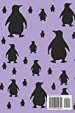 Penguin Notes: Cute Purple and Black Penguin Pattern 6