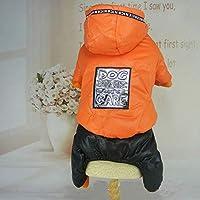 1、XXL:新しい到着は猫の秋の冬のジャンプスーツの服ペットの犬猫暖かいソフトジャケット子犬ロンパースペットの犬のオーバーコートの1pcsのS-XXLの犬