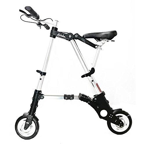 8インチタイヤ超軽量 超小型Bicycle Bicycle A型bike 折りたたみ自転車 チューブレス仕様/スポーツ/アウトドア/駅通/ピクニック/遠足/収納袋付き/タイヤの空気入れ不要 8ABike-Sliver (8ABike-Sliver)