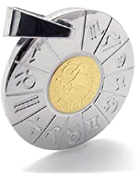 [テメゴ ジュエリー]TEMEGO Jewelry メンズステンレススチールペンダントゴシックゾディアック山羊座のネックレス、ゴールデンシルバー[インポート]