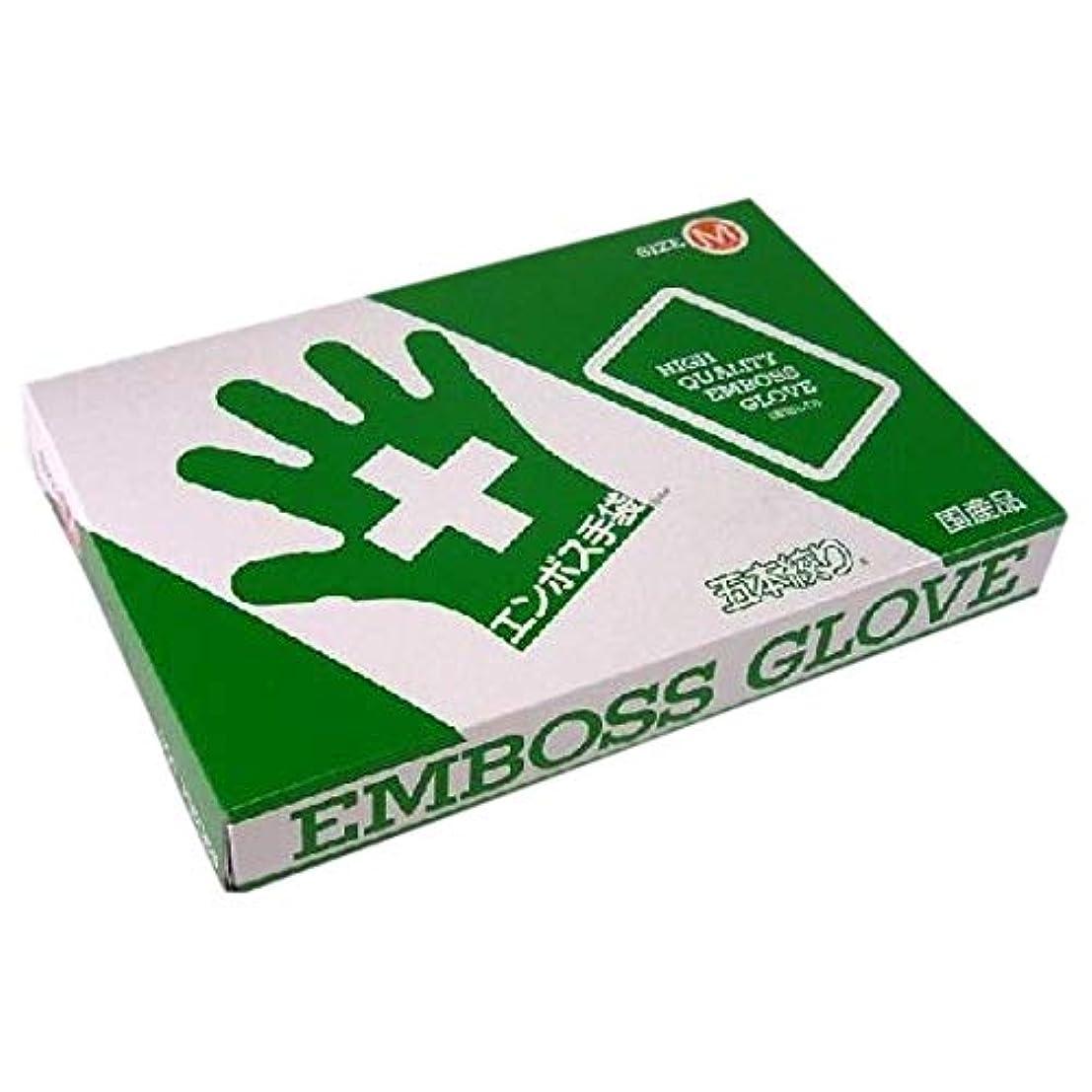 圧力闘争ヘルシーエンボス手袋 5本絞り(使い捨て手袋国産品) 東京パック M 200枚入