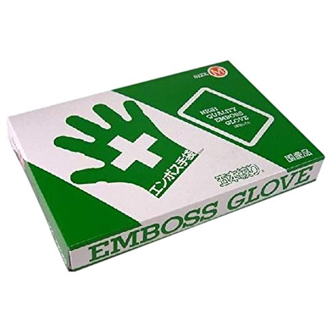 ソケットいちゃつく教育するエンボス手袋 5本絞り(使い捨て手袋国産品) 東京パック M 200枚入