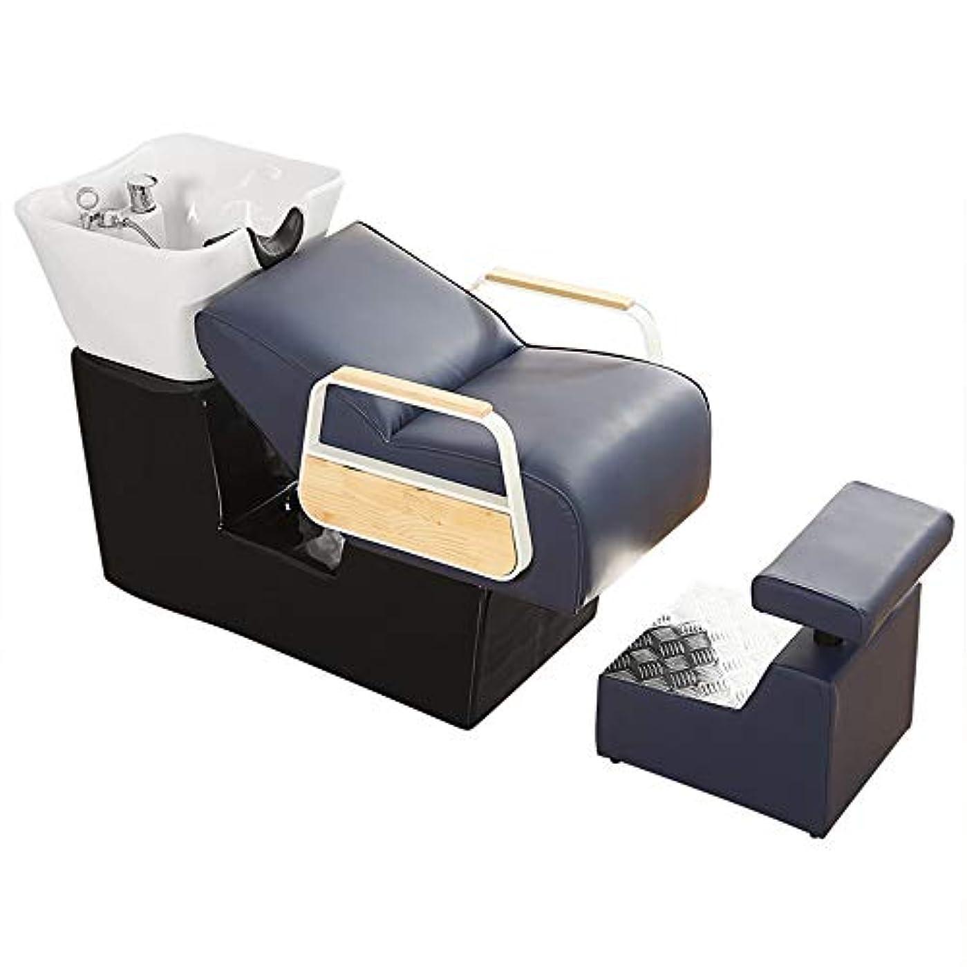 藤色限界帰するシャンプーの椅子、逆洗の単位の陶磁器の洗面器の洗面器のための洗面器のボウル理髪シンクの椅子