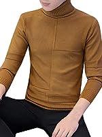 (ネルロッソ) NERLosso タートルネックセーター メンズ ハイネック 防寒 インナー ニット きれいめ 編み リブ 長袖 学生 ビジネス あったかい 正規品 XL コーヒー888a cmw24334-XL-co888a