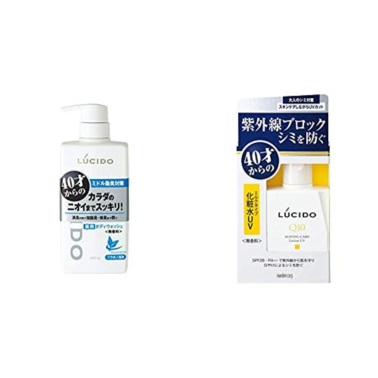 スポット踏みつけコテージルシード 薬用デオドラントボディウォッシュ 450mL (医薬部外品) & 薬用 UVブロック化粧水 (医薬部外品)100ml
