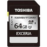 東芝 64GB・UHS Speed Class1(UHS-II)対応SDXCカード SDHU-064GA