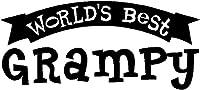 Worlds Best Grampyウィンドウステッカーデカール