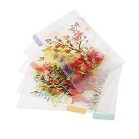 インデックス 仕切カード タブカード ノート ジャーナル 日記 プランナー用 全4スタイル - スタイル4