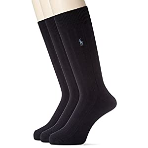 [ポロ ラルフ ローレン]靴下 3足セット メンズ NAVY US F (FREE サイズ) [並行輸入品]