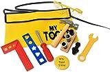 Kids Toyツールセット、ベルト、ツール、安全メガネ、バッジ