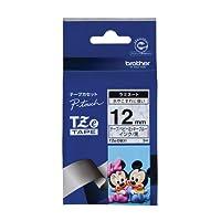 ブラザー工業 TZeテープ ディズニーテープ(ベビーミッキーブルー/黒字) 12mm TZe-DB31
