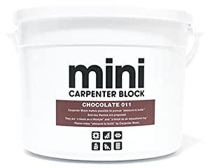 CARPENTER BLOCK mini SINGLE COLOR 64PIECES /CHOCOLATE 011