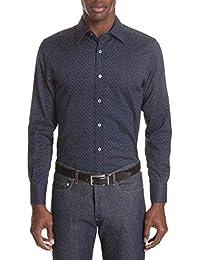 (カナーリ) CANALI メンズ トップス シャツ Regular Fit Easy Care Geometric Dress Shirt [並行輸入品]