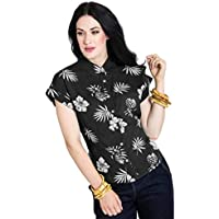 Ro Rox Boutique Hell Bunny Pineapple Tropical Flowers Vintage 50s Rockabilly Blouse Top Shirt