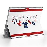 Surface go 専用スキンシール サーフェス go ノートブック ノートパソコン カバー ケース フィルム ステッカー アクセサリー 保護 ラブリー 国旗 洗濯物 005412