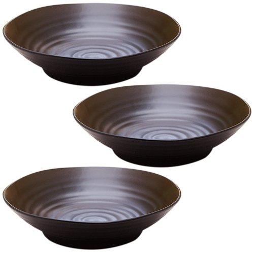 テーブルウェアイースト (黒マット)パスタ皿・カレー皿 3枚ずつセット