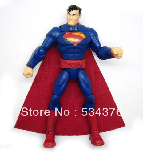 DC Comic Justice League Total Heroes Superman Loose Action Figure Figurine Toy Doll-