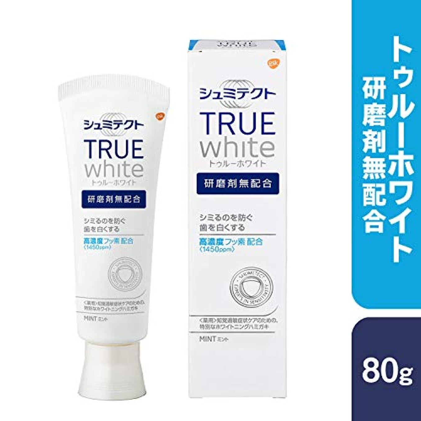 [医薬部外品]薬用シュミテクト トゥルーホワイト 研磨剤無配合 高濃度フッ素配合 <1450ppm> 知覚過敏予防 歯磨き粉 80g