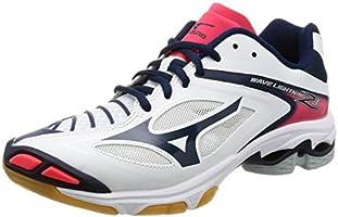 [ミズノ] バレーボールシューズ ウエーブライトニング Z3 ホワイト×ネイビー×ピンク 250(25cm) (現行モデル)