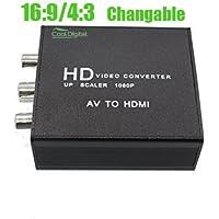 CoolDigital RCA AVコンポジットto HDMIコンバータアスペクト比16: 94: 3調節可能なサポートPal / Ntsc with USB充電ケーブル