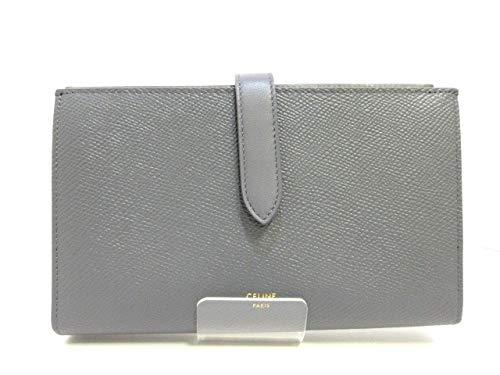 (セリーヌ)CELINE 財布 ラージ ストラップウォレット ミディアムグレー 10B633BFP.09GM 【中古】