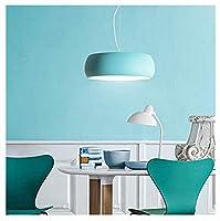 シャンデリア シーリングライト、マカロンサークルランプシェード北欧スタイルメタルクリエイティブシャンデリアシーリングランプペンダントライト室内照明、3色、3サイズ (色 : Green, サイズ さいず : M)