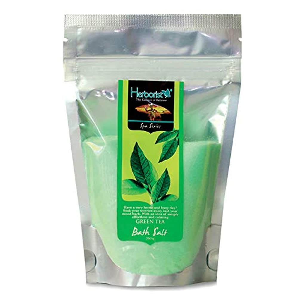 流暢ひまわり鍔Herborist ハーボリスト Bath Salt バスソルト バリ島の香り漂う入浴剤 250g Green Tea グリーンティー [海外直送品]