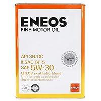 ENEOS エネオス FINE ファイン エンジンオイル モーターオイル SN/RC/GF-5 5W-30 部分合成油 4L缶 (ファイン 5W-30 4L缶)