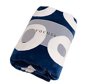 yucuss (ユクスス ) 毛布 ずっとふれていたい ブランケット Bagle ダブル ネイビー 54380307