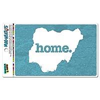 ナイジェリアホームカントリー MAG-NEATO'S(TM) ビニールマグネット - 質感ロビンエッグ青