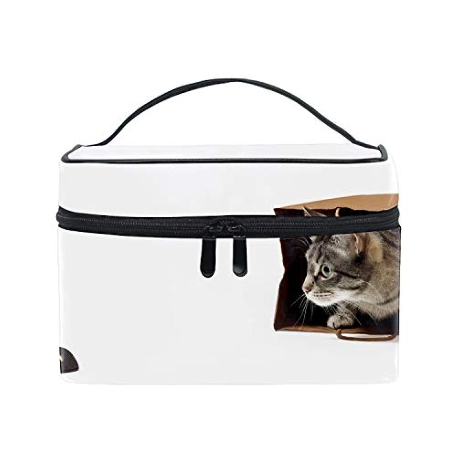 孤児負侵入するAnimals Cat Pet Bag Computer Mice Humorメイクボックス コスメ収納 トラベルバッグ 化粧 バッグ 高品質