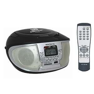 WINTECH USB/SD再生対応 リモコン付きCDラジオ KC-150USB