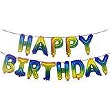 Noloo バースデーバルーン 誕生日祝い 風船セット happy birthday 16インチ 部屋飾り 装飾セット (A5)