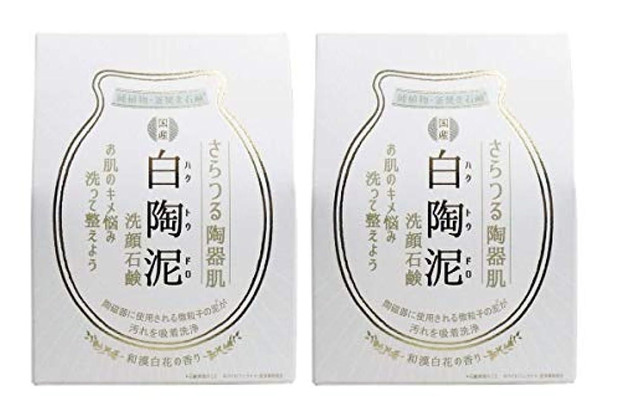 安西パイプ中にペリカン石鹸 白陶泥洗顔石鹸 100g×2個セット