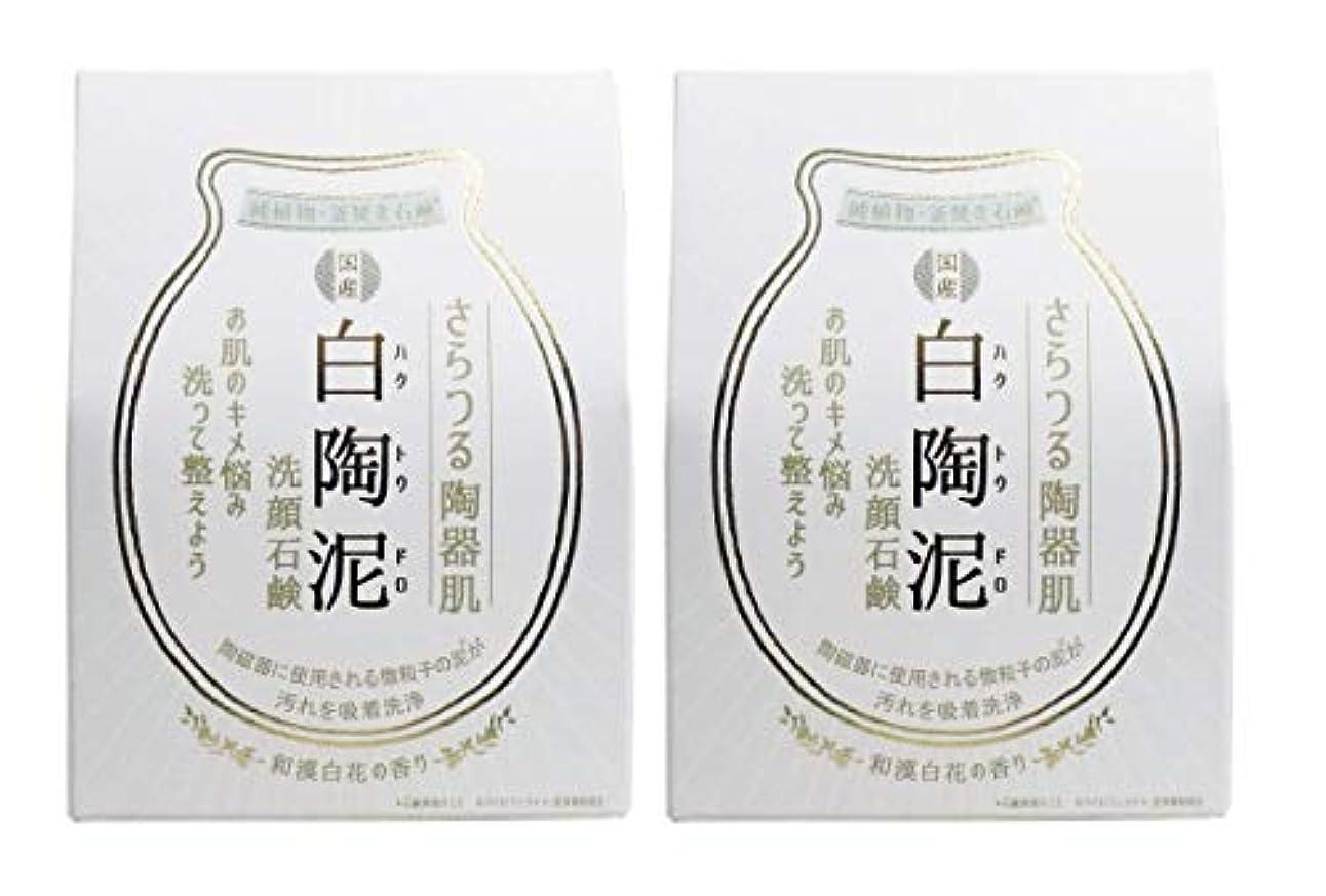 可動ボリュームハムペリカン石鹸 白陶泥洗顔石鹸 100g×2個セット