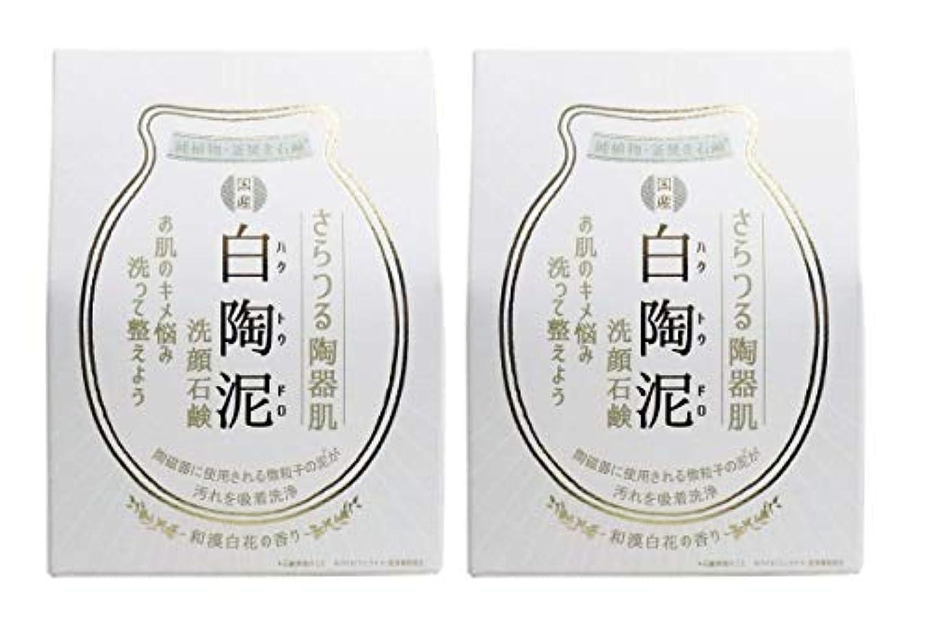 ペリカン石鹸 白陶泥洗顔石鹸 100g×2個セット