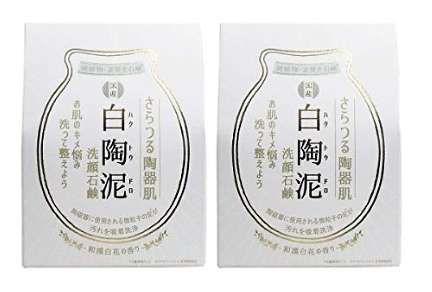 錆び密度破裂ペリカン石鹸 白陶泥洗顔石鹸 100g×2個セット