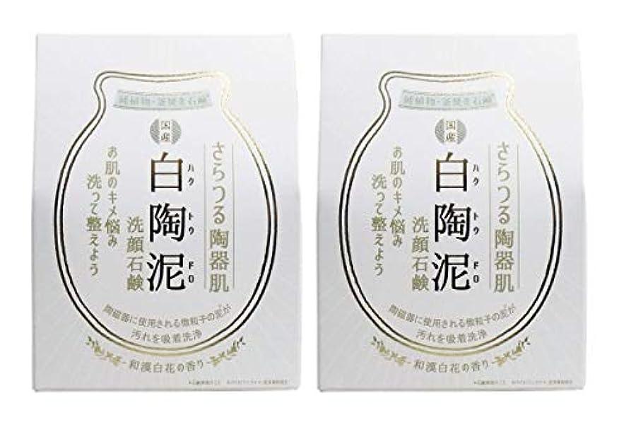 解体するアームストロング送信するペリカン石鹸 白陶泥洗顔石鹸 100g×2個セット