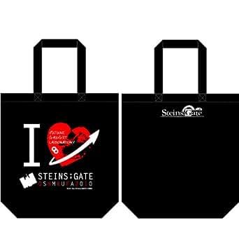 Steins;Gate (シュタインズゲート) アイラブ柄 トートバッグ ブラックSteins;Gate (シュタインズゲート) アイラブガラ トートバッグ ブラック