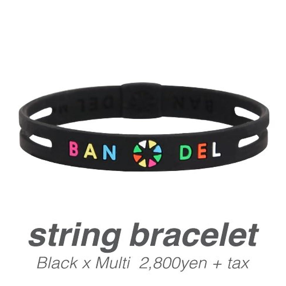 ペッカディロ居住者返還[バンデル?BANDEL]ストリングブレスレット?string bracelet(BlackxMulti?ブラック×マルチ)Lサイズ(19.0cm)