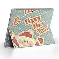 Surface go 専用スキンシール サーフェス go ノートブック ノートパソコン カバー ケース フィルム ステッカー アクセサリー 保護 ユニーク キャラクター クリスマス サンタ 005782