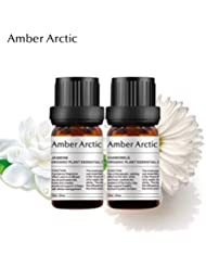 Amber Arctic カモミール ジャスミン 精油 セット、 ディフューザ 2×10 ミリリットル 100% 純粋 天然 アロマ エッセンシャル オイル